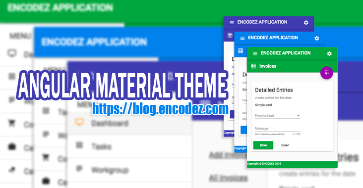 Angular Material Theme – Quick starter – Free Download