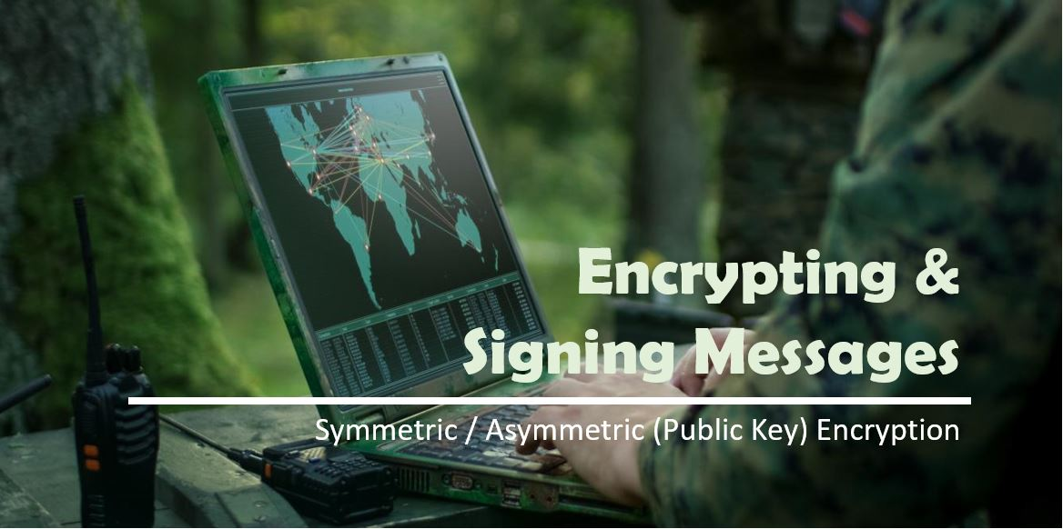 Symmetric / Asymmetric encryption and message signature